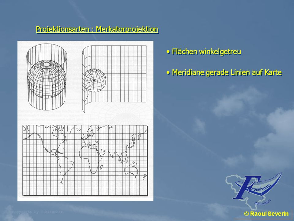 Projektionsarten : Merkatorprojektion