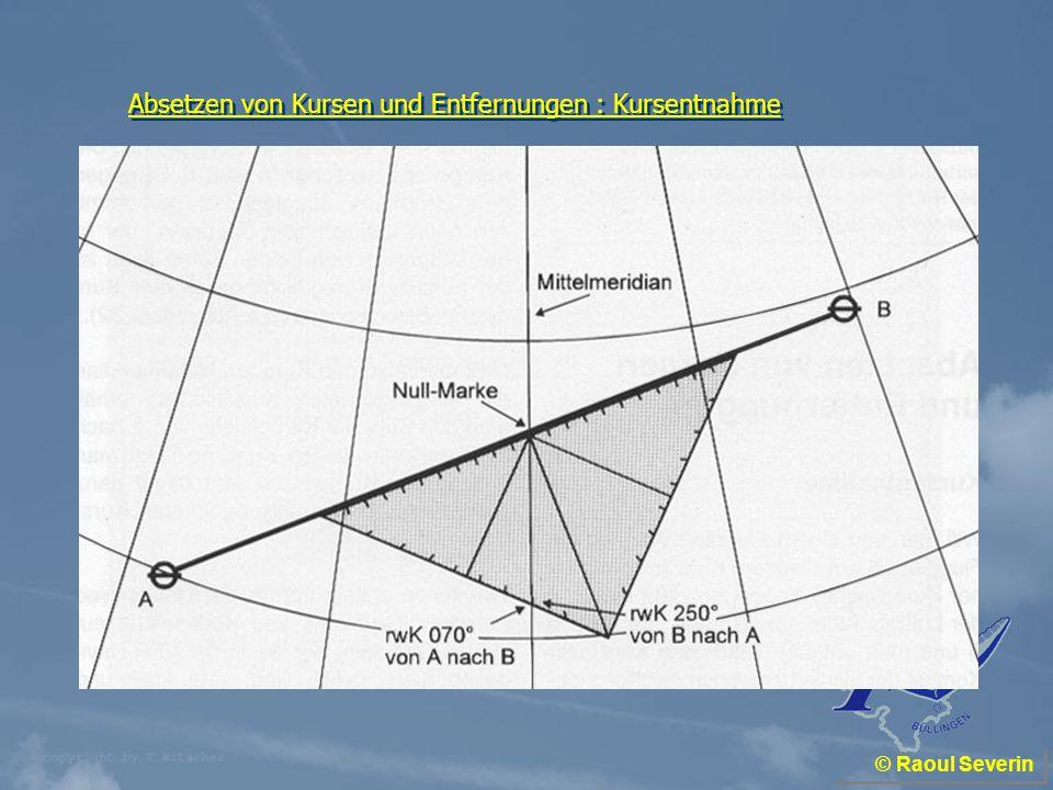 Absetzen von Kursen und Entfernungen : Kursentnahme