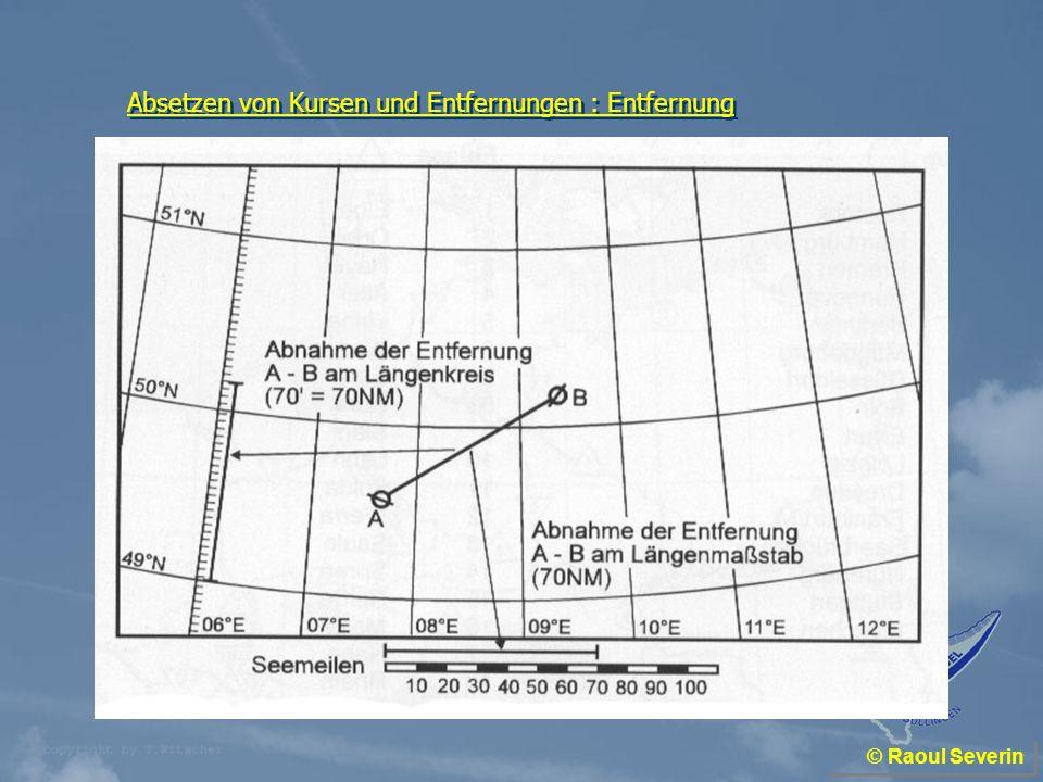 Absetzen von Kursen und Entfernungen : Entfernung