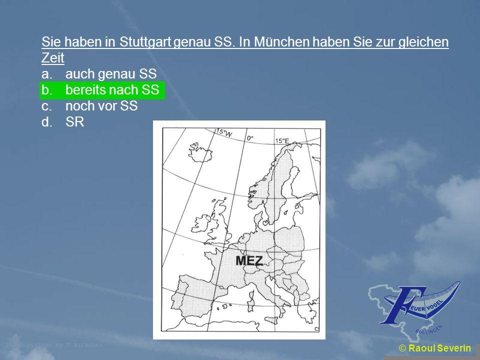 Sie haben in Stuttgart genau SS. In München haben Sie zur gleichen