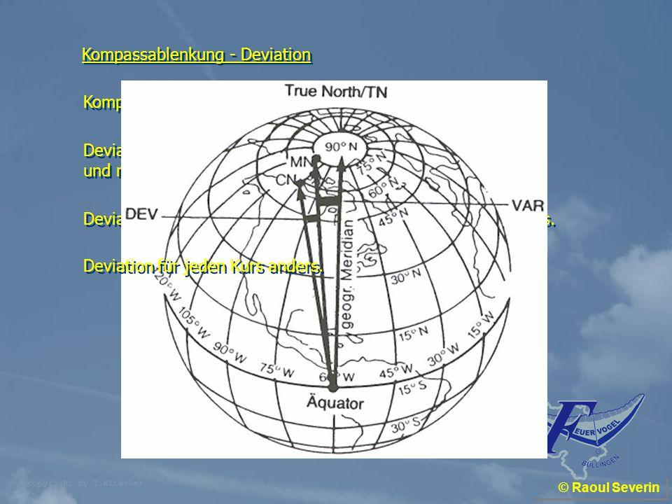 Kompassablenkung - Deviation