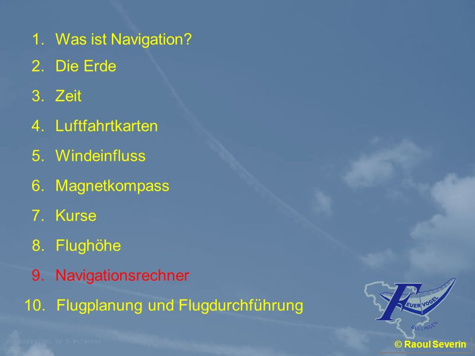 Flugplanung und Flugdurchführung
