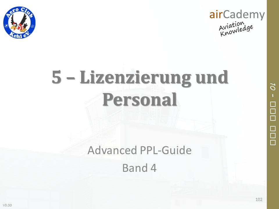 5 – Lizenzierung und Personal