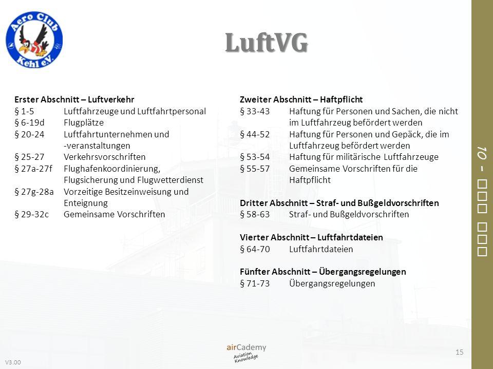 LuftVG Erster Abschnitt – Luftverkehr