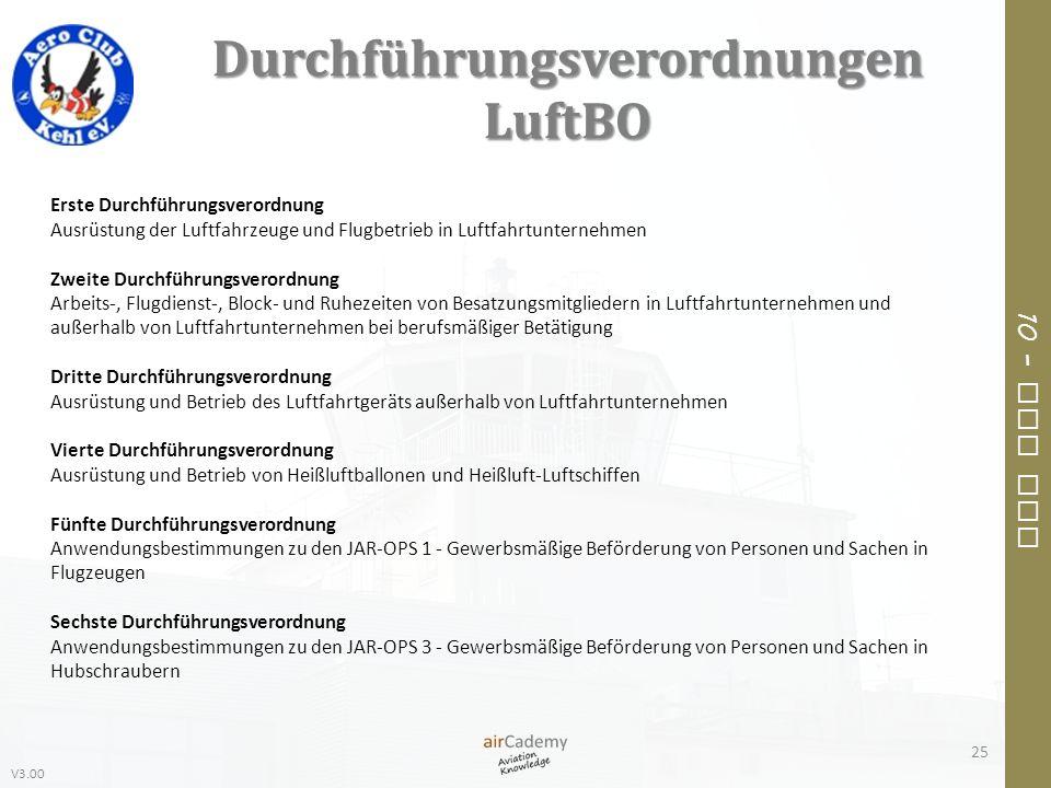 Durchführungsverordnungen LuftBO