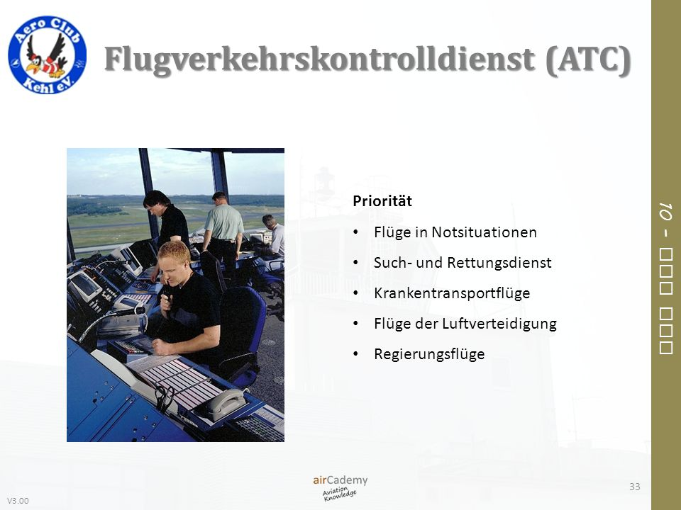 Flugverkehrskontrolldienst (ATC)