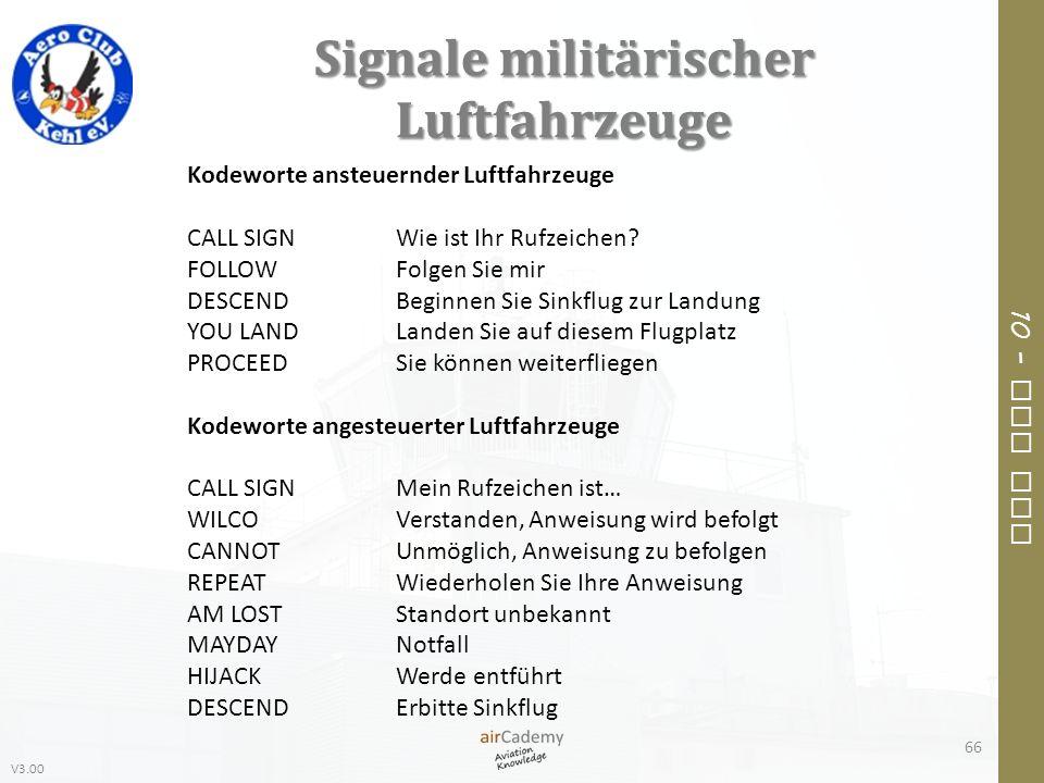 Signale militärischer Luftfahrzeuge