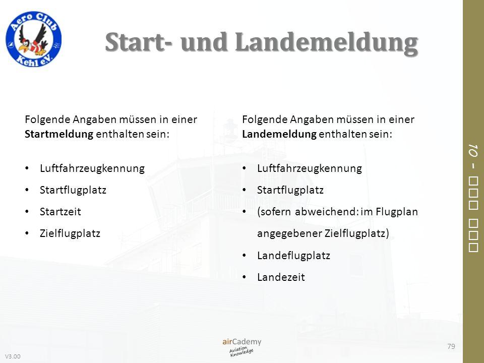 Start- und Landemeldung