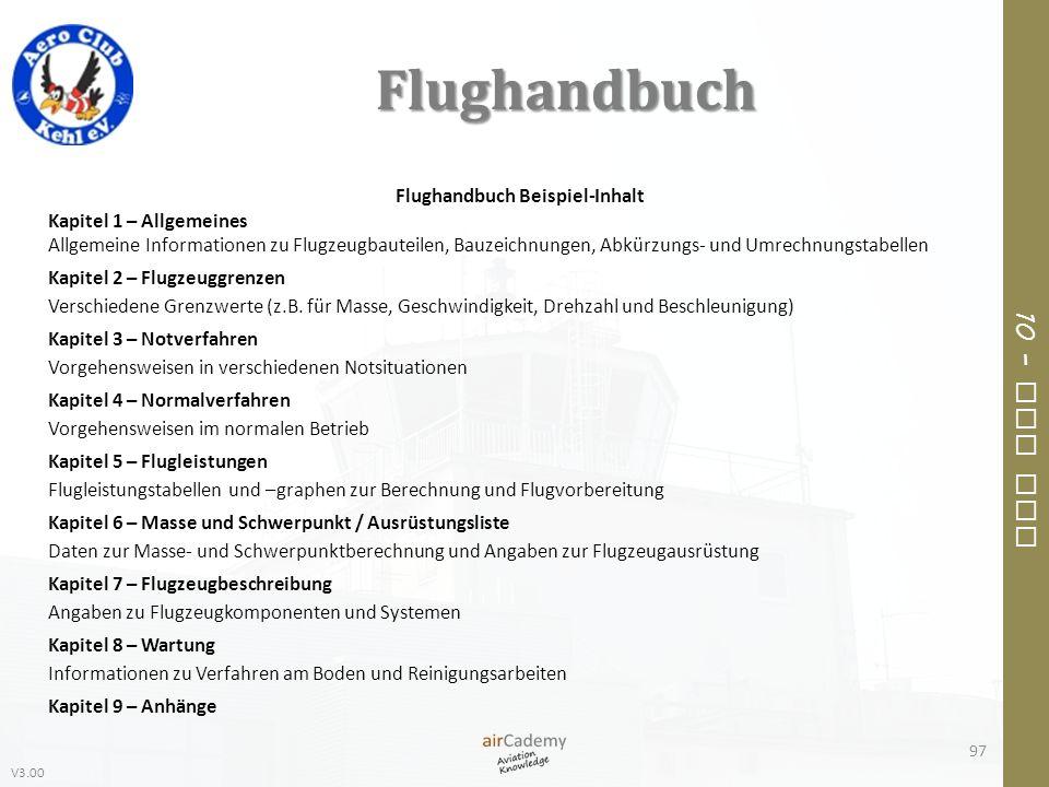 Flughandbuch Beispiel-Inhalt