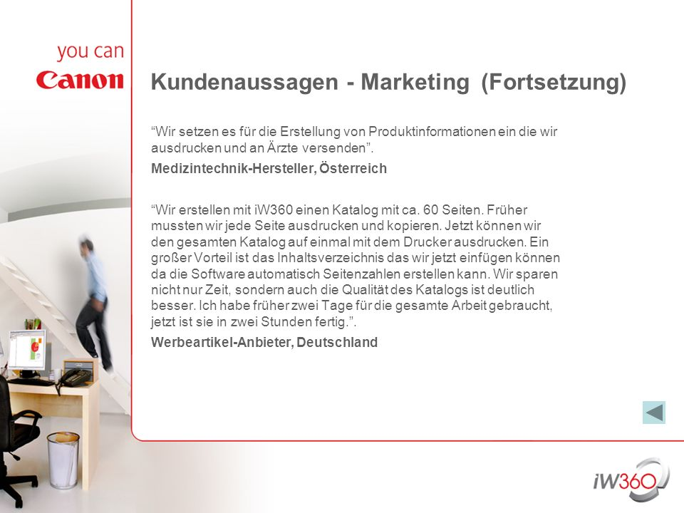 Kundenaussagen - Marketing (Fortsetzung)