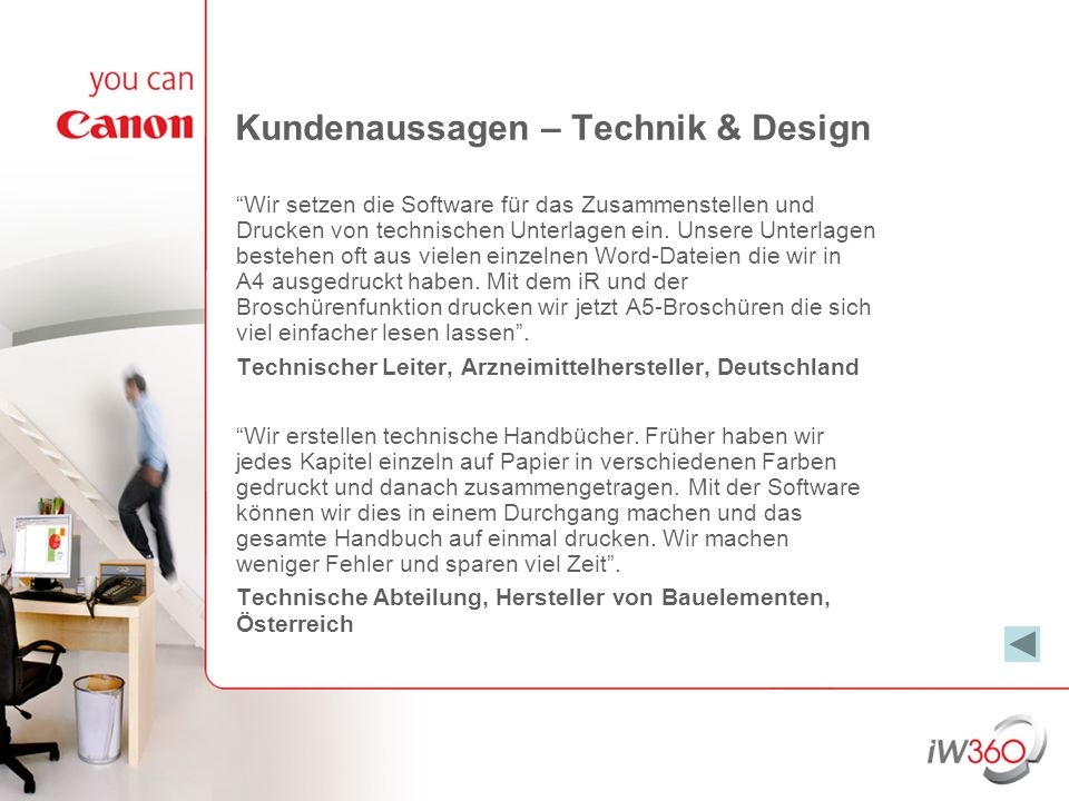 Kundenaussagen – Technik & Design