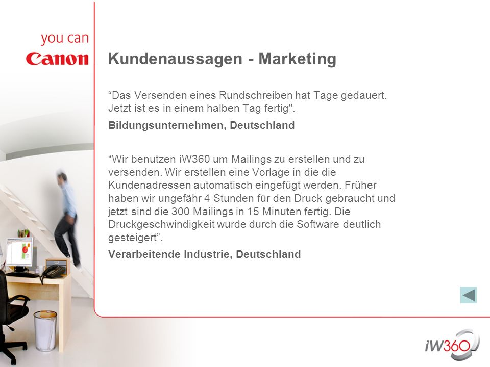 Kundenaussagen - Marketing