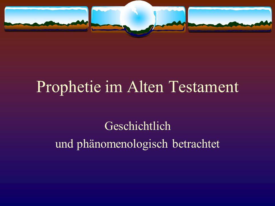 Prophetie im Alten Testament
