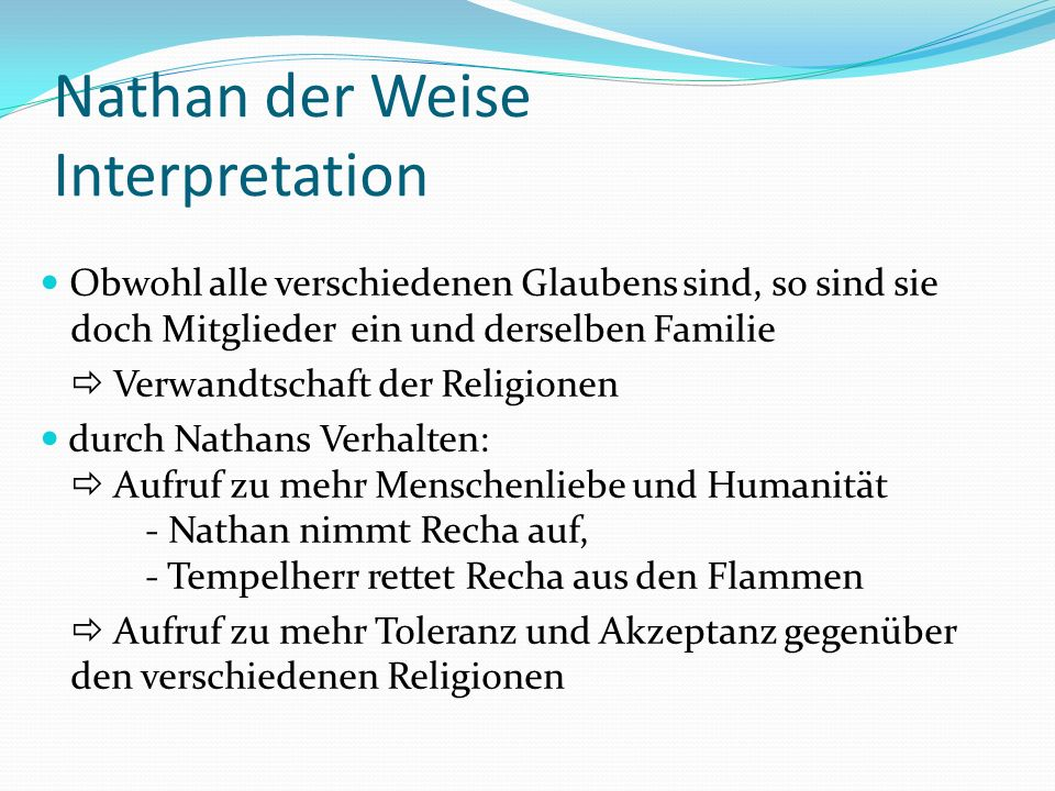 Nathan der Weise Interpretation