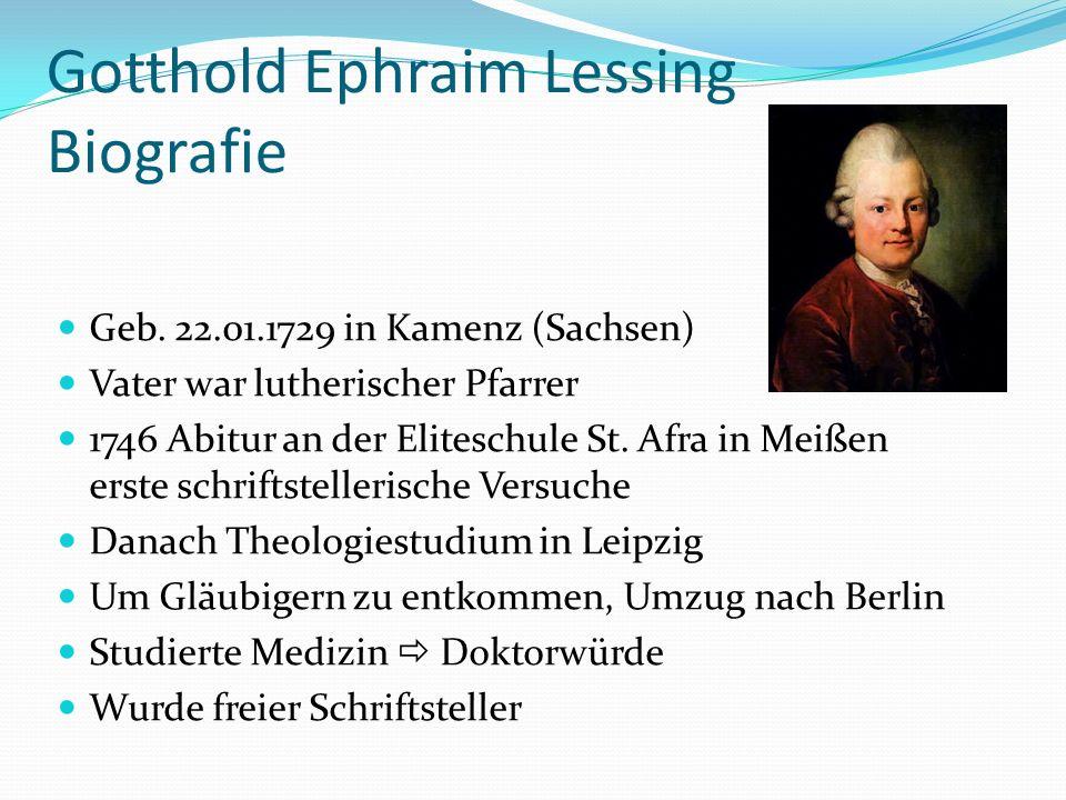 Gotthold Ephraim Lessing Biografie
