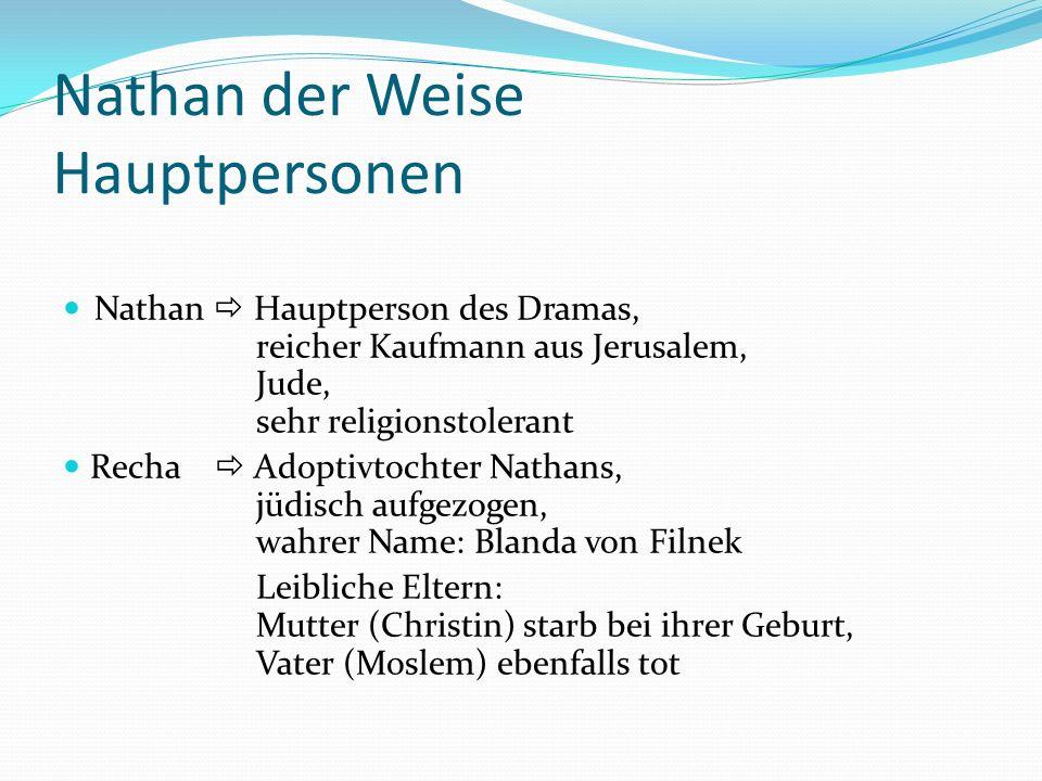 Nathan der Weise Hauptpersonen