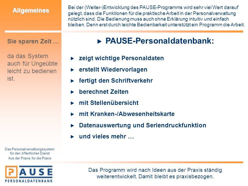 PAUSE-Personaldatenbank: