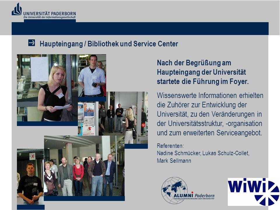 Haupteingang / Bibliothek und Service Center