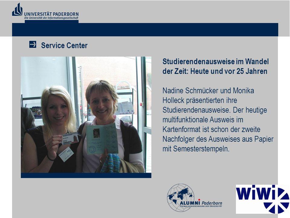 Service Center Studierendenausweise im Wandel der Zeit: Heute und vor 25 Jahren.