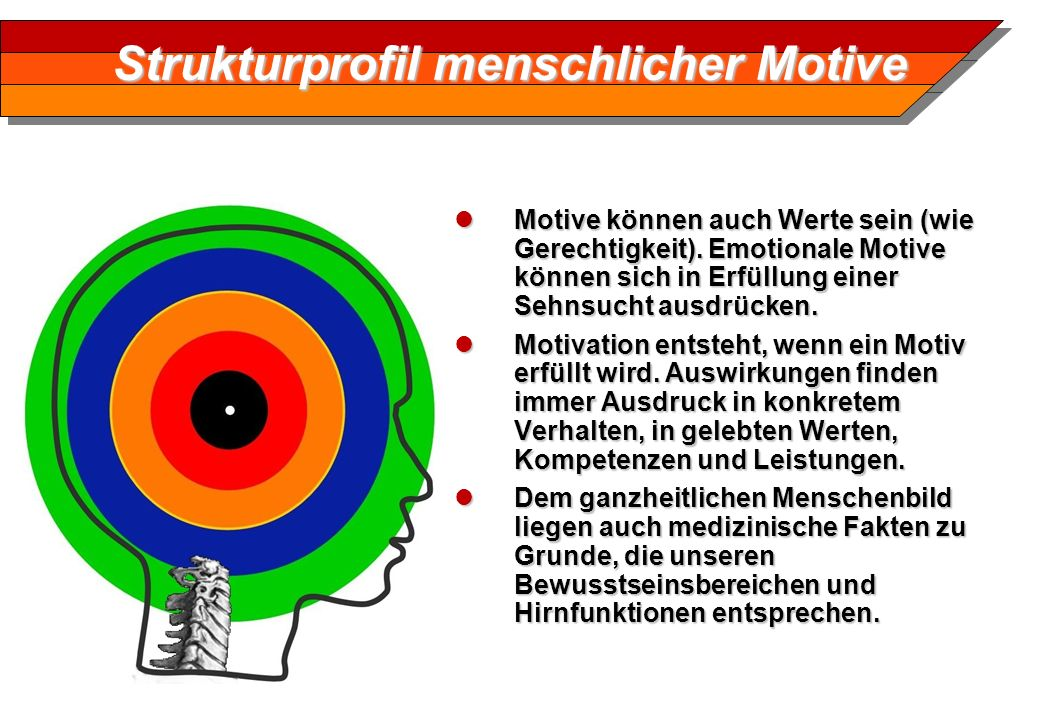 Strukturprofil menschlicher Motive