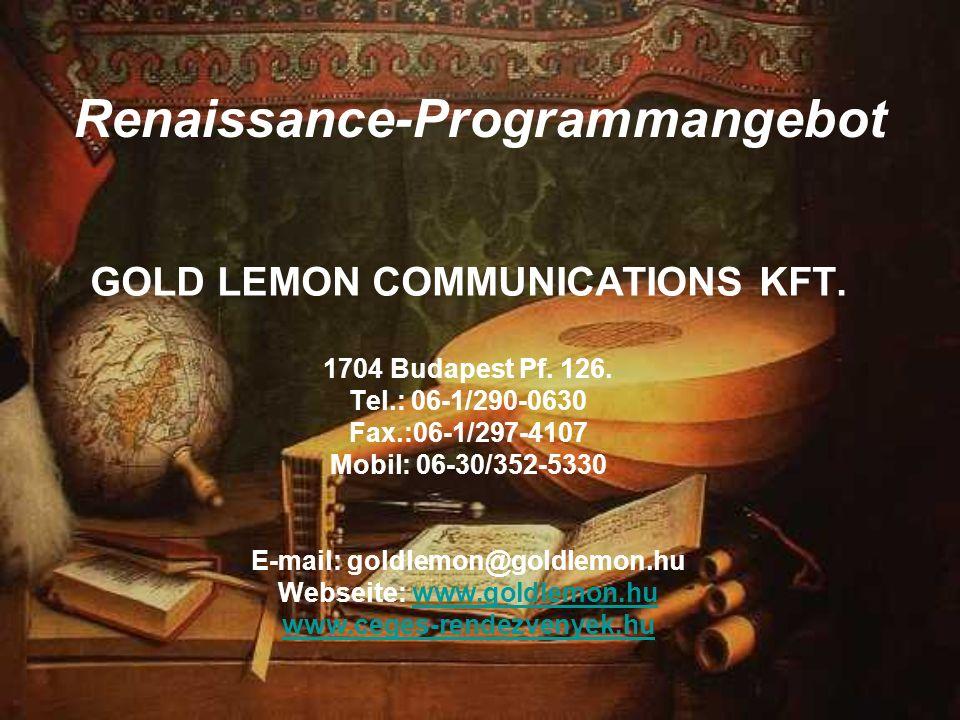 Renaissance-Programmangebot