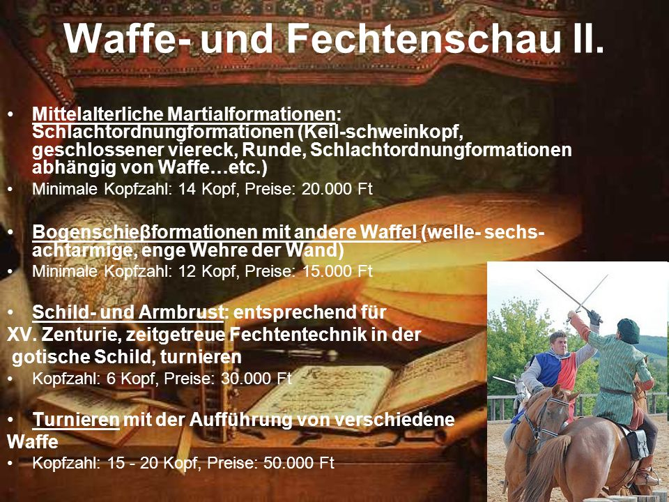 Waffe- und Fechtenschau II.