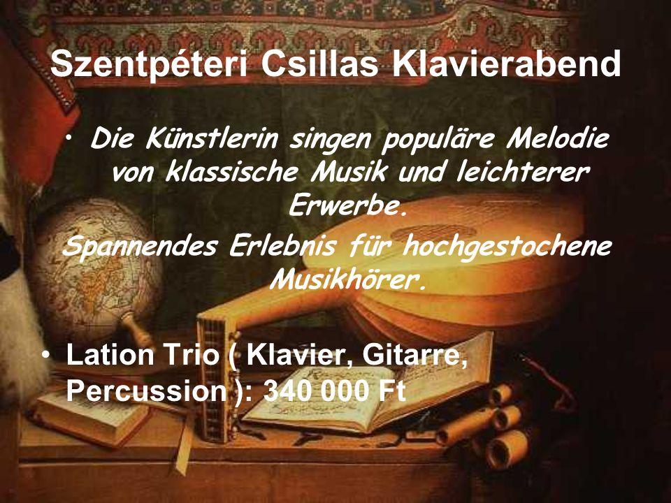 Szentpéteri Csillas Klavierabend