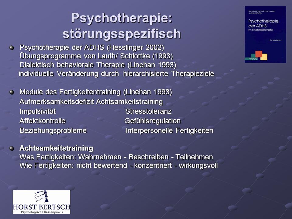 Psychotherapie: störungsspezifisch