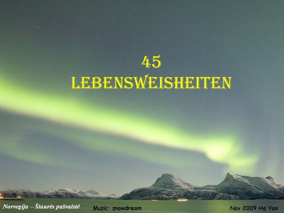 45 Lebensweisheiten Norvegija – Šiaurės pašvaistė Music: snowdream