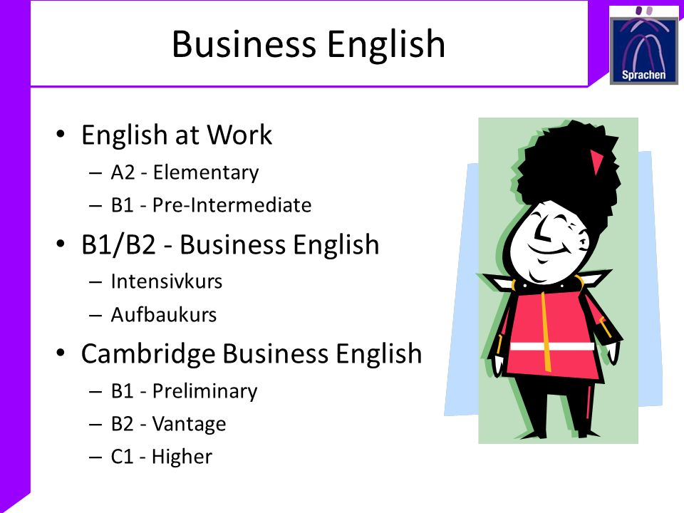 Business English English at Work B1/B2 - Business English