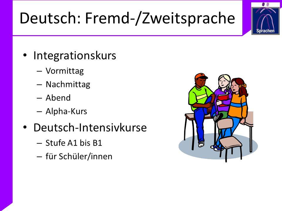 Deutsch: Fremd-/Zweitsprache