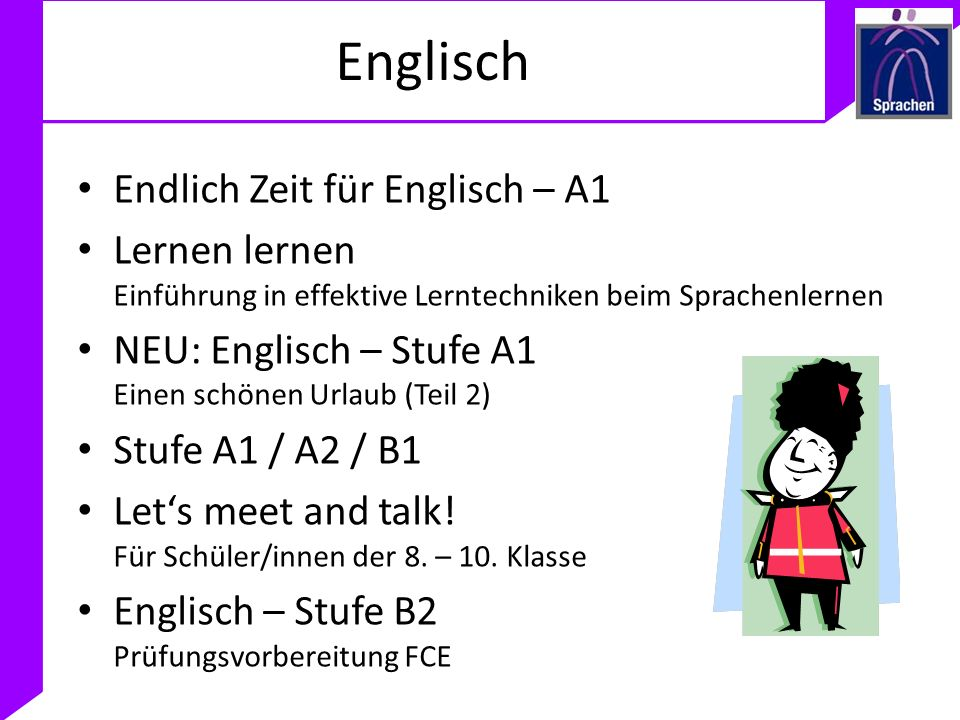 Englisch Endlich Zeit für Englisch – A1