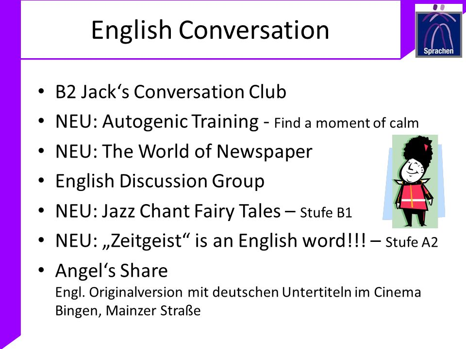 English Conversation B2 Jack's Conversation Club