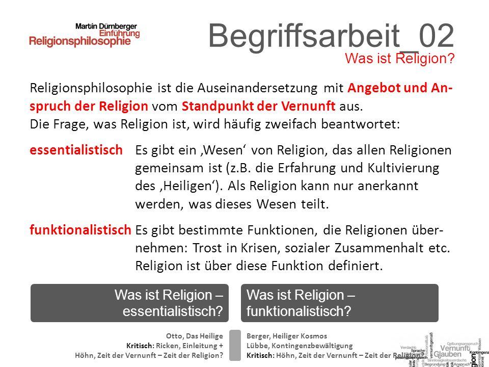 Begriffsarbeit_02 Was ist Religion