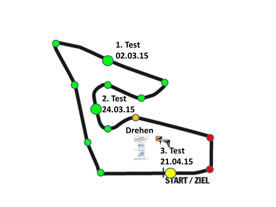 1. Test 02.03.15 2. Test 24.03.15 Drehen 3. Test 21.04.15