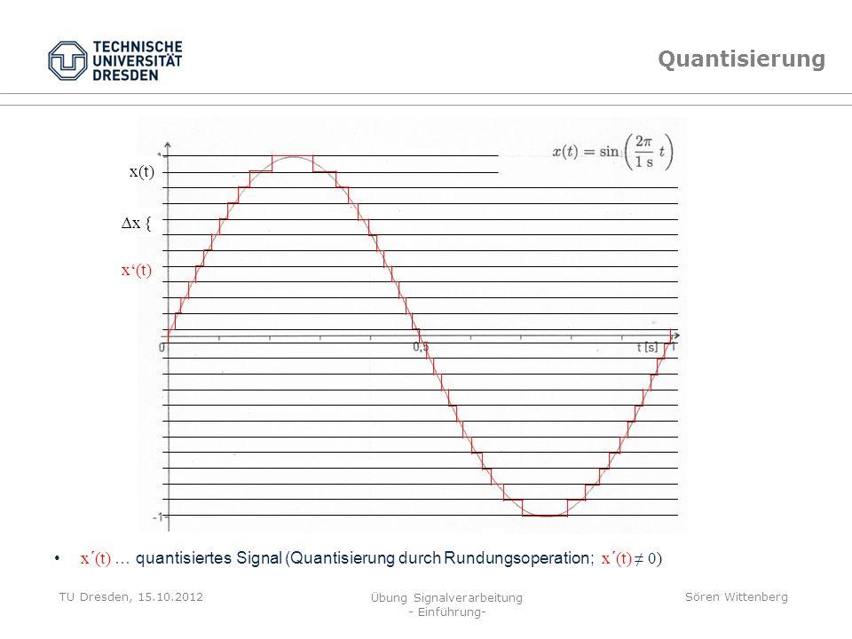 Quantisierung x(t) ∆x { x'(t)