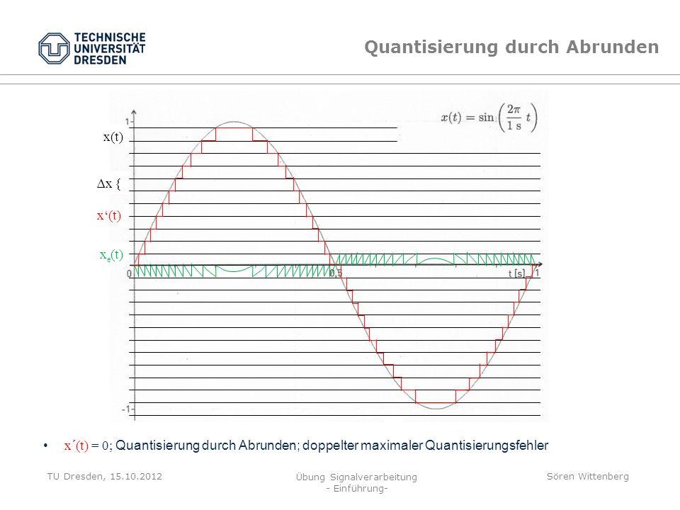 Quantisierung durch Abrunden