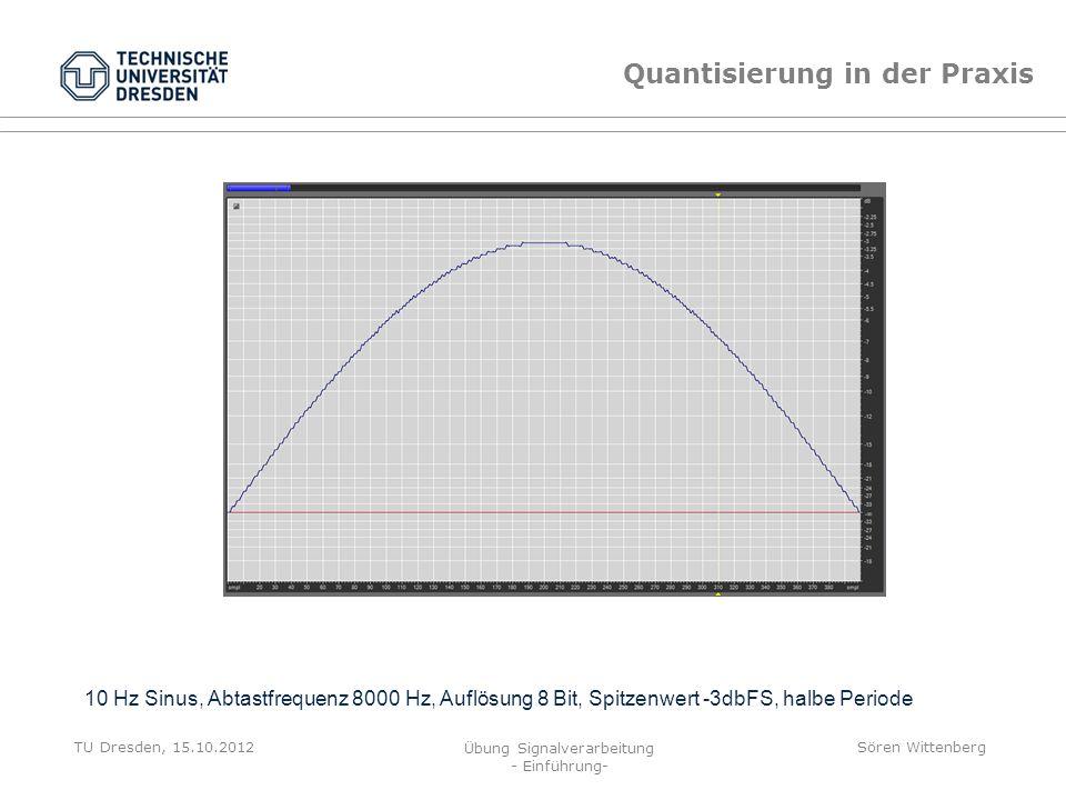 Quantisierung in der Praxis