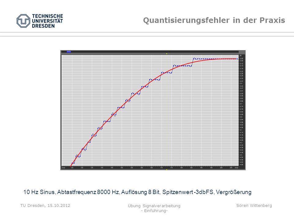 Quantisierungsfehler in der Praxis