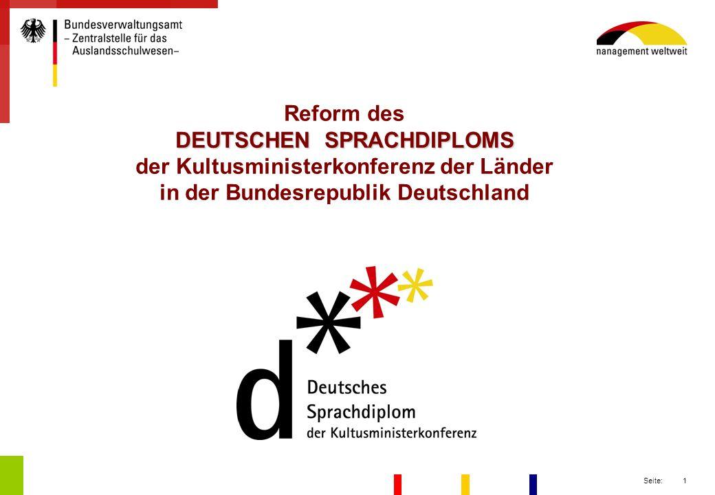Reform des DEUTSCHEN SPRACHDIPLOMS