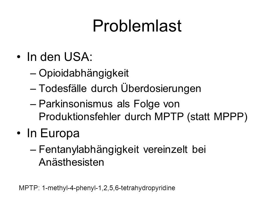 Problemlast In den USA: In Europa Opioidabhängigkeit