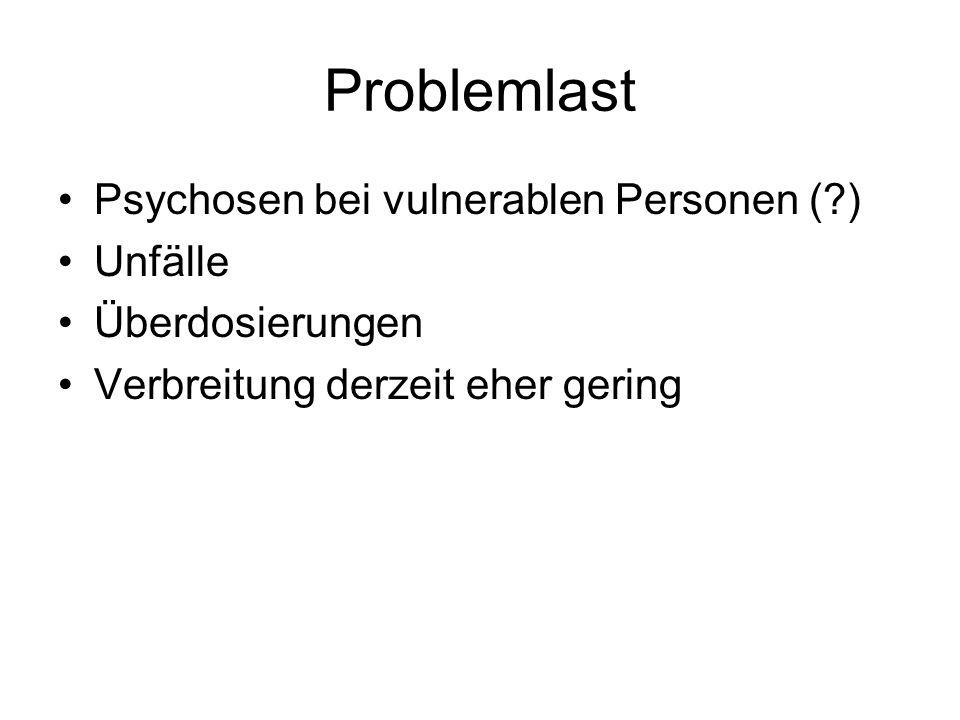 Problemlast Psychosen bei vulnerablen Personen ( ) Unfälle