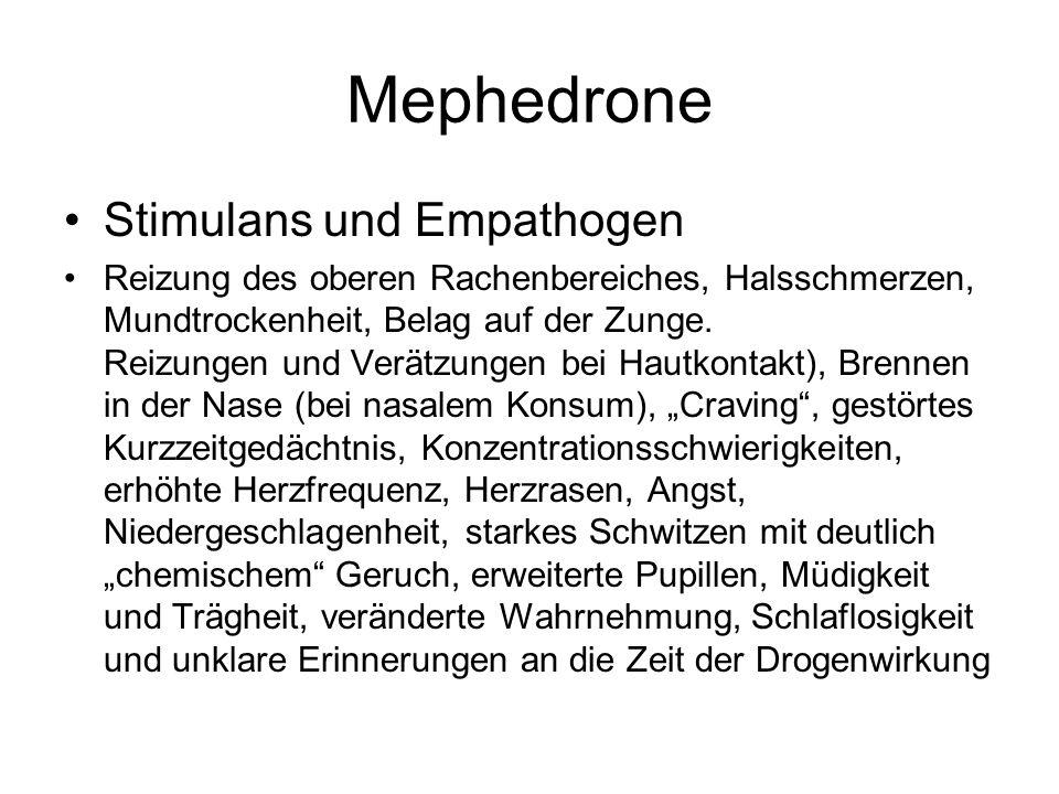 Mephedrone Stimulans und Empathogen