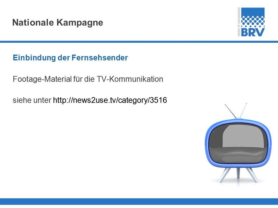 Nationale Kampagne Einbindung der Fernsehsender