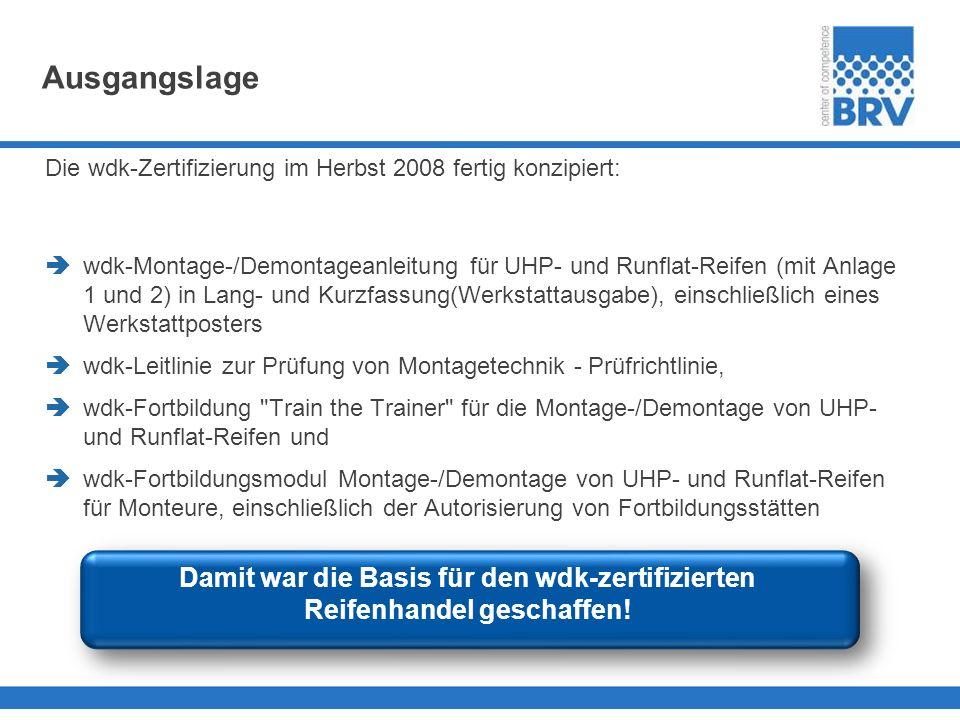 AusgangslageDie wdk-Zertifizierung im Herbst 2008 fertig konzipiert: