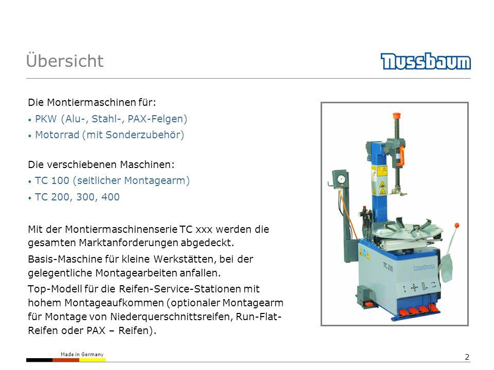 Übersicht Die Montiermaschinen für: PKW (Alu-, Stahl-, PAX-Felgen)