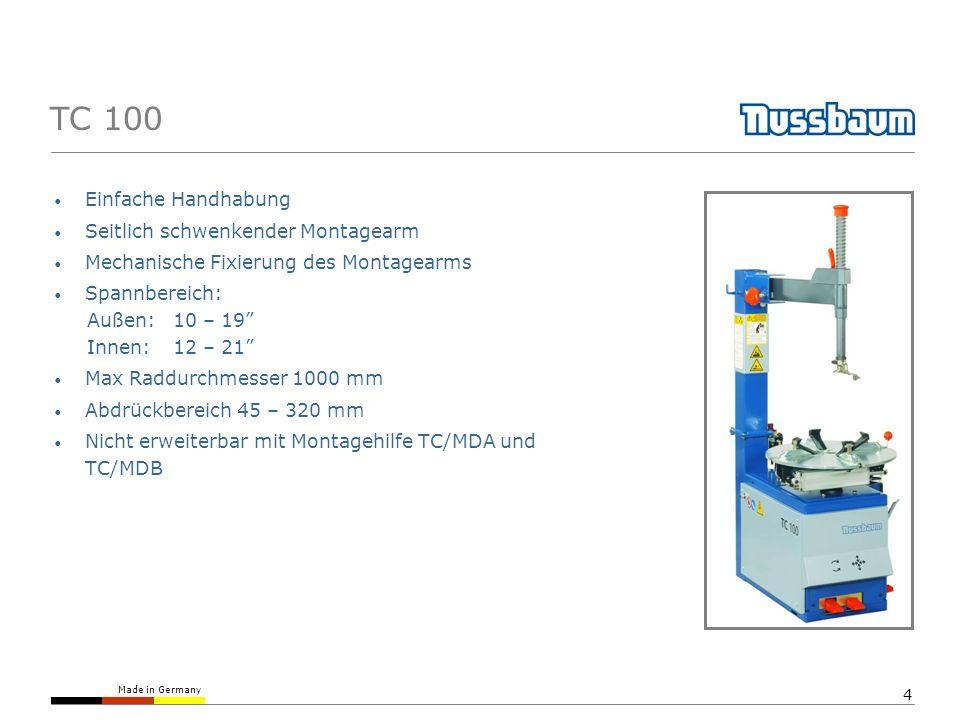 TC 100 Einfache Handhabung Seitlich schwenkender Montagearm