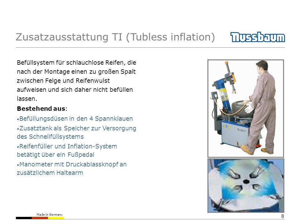 Zusatzausstattung TI (Tubless inflation)