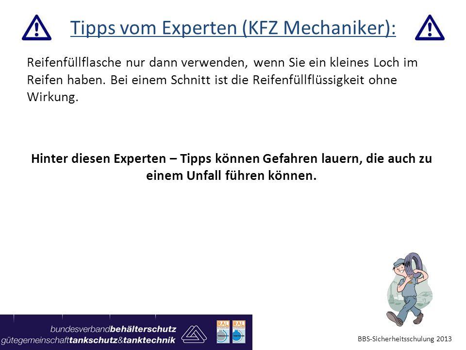 Tipps vom Experten (KFZ Mechaniker):