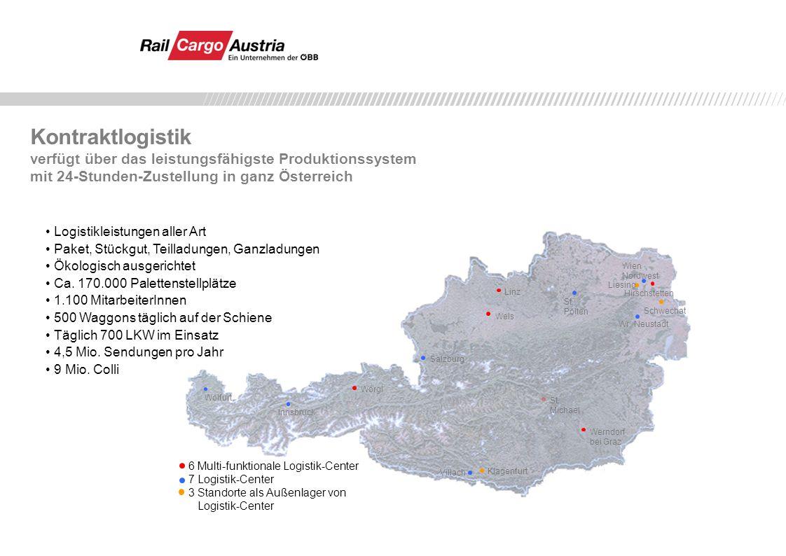 Kontraktlogistik verfügt über das leistungsfähigste Produktionssystem mit 24-Stunden-Zustellung in ganz Österreich